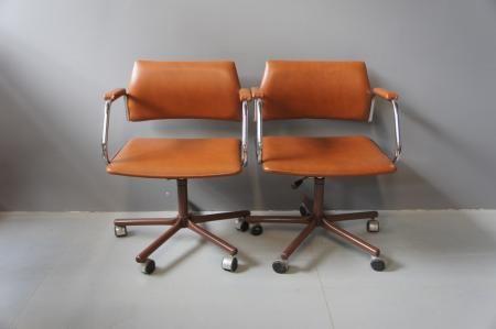 Lederen bureaustoelen nieuwe producten juli 2015 pinterest - Rechthoekige lederen pouf ...