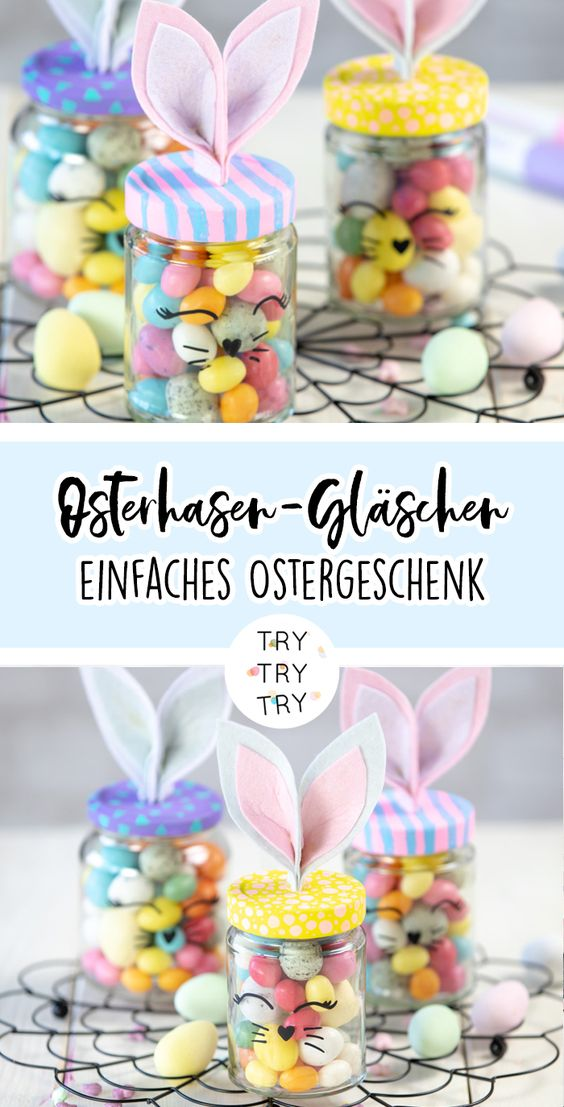 DIY Osterhasen-Gläschen