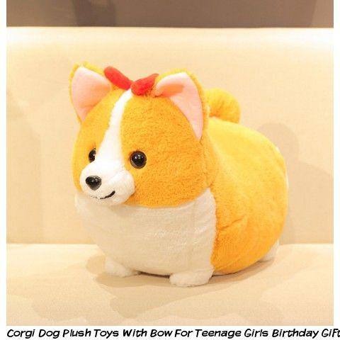 Corgi Dog Plush Toys With Bow For Teenage Girls Birthday Gifts