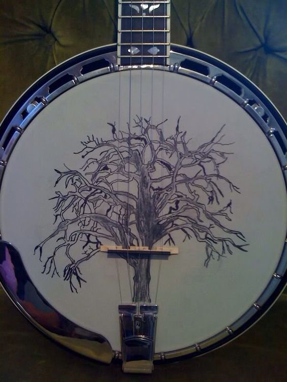 Banjo art. : The music side of me : Pinterest : Art and Banjos