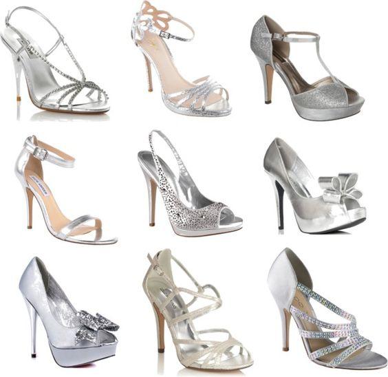 Silver Quinceanera Heels