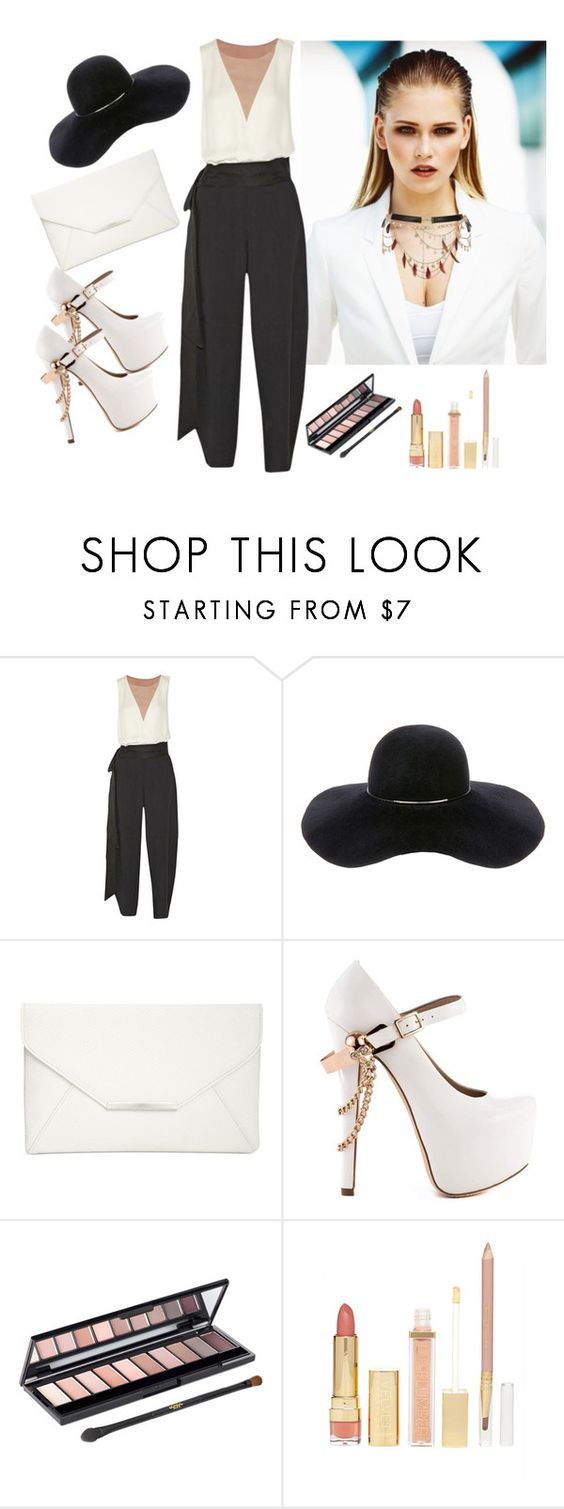 """""""Untitled #257"""" by domla ❤ liked on Polyvore featuring MISCHA, Lanvin, Eugenia Kim, Style & Co., ZiGiny, L'Oréal Paris, Forever 21 and River Island"""