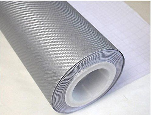 Silver 3d Carbon Fiber Film Twill Weave Vinyl Sheet Roll Wrap 12 Carbon Fiber Vinyl Car Wrap Car Accessories