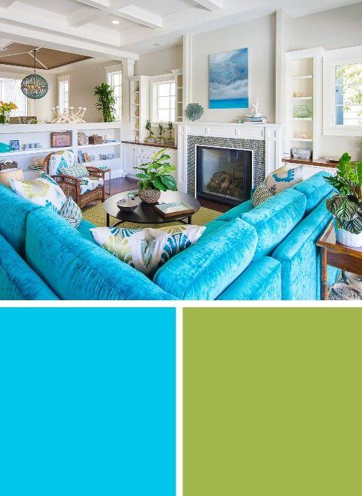 Classic Coastal Beach Color Palettes Living Room Decor Ideas Color Palette Living Room Beach House Living Room Coastal Living Rooms