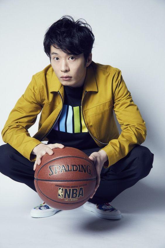 バスケットボールと田中圭