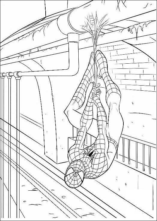 Coloriage A Imprimer Spiderman Pendu Tete En Bas Gratuit Coloriage Spiderman Coloriage Spiderman à Imprimer Coloriage