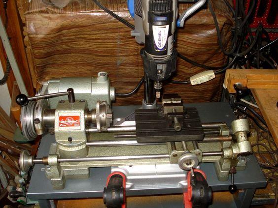 Soporte de dremel para fresado en el torno unimat tools - Soporte para dremel ...