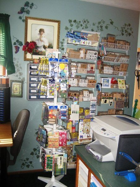 Another view of some storage... Stamps, and other scrapbooking items.