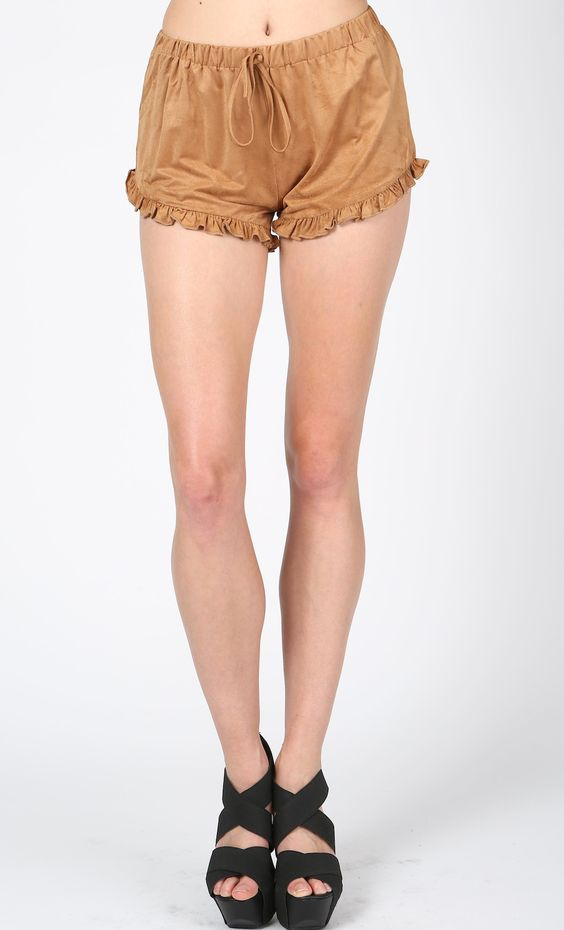 #ruffled #suede #shorts #tan WWW.SHOPPUBLIK.COM #publik #shoppublik #womens #fashion #clothes #style #accessories #jewelry #rings #bracelets #earrings #statement #necklaces #gold #silver #chic #cute #hot #trendy #sexy #swag #fashionista #fashionfeen #fallfashion #holidays #fashionforward #fashiontrends #outfitinspiration #streetstyle #celebstyle #ootd #whatsnew #newarrivals #armpartyswag #womenswear