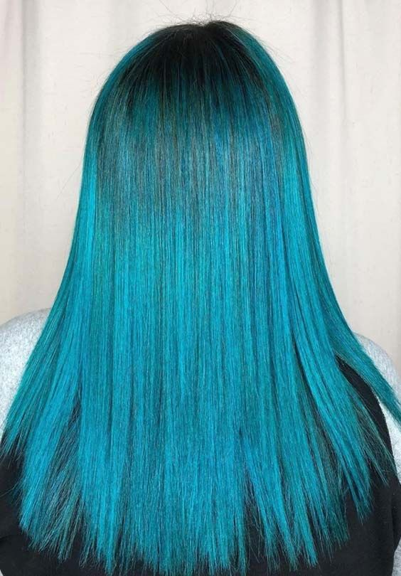 22 Favorite Blue Hair Color Shades For Women Nowadays Hair Color