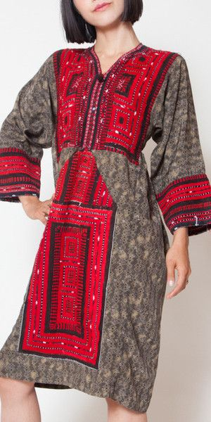 Brown and Red baluch dress