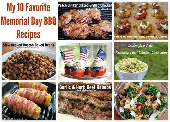 My 10 Favorite Memorial Day BBQ Recipes - One Hundred Dollars a Month