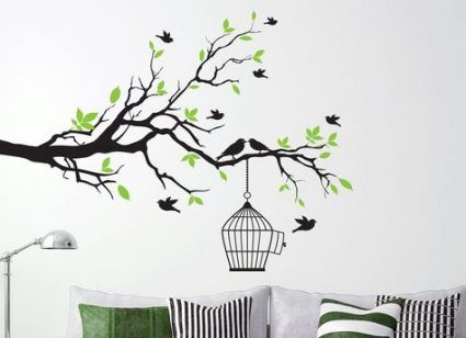 22 Ideas Two Bird Painting Trees For 2019 Tree Branch Wall Art Tree Wall Painting Tree Wallpaper
