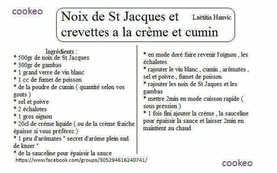 NOIX ST JACQUES ET CREVETTES À LA CRÈME