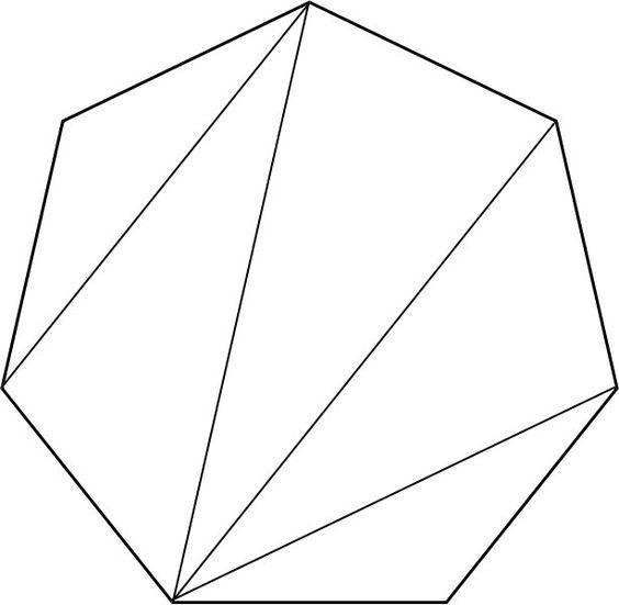 Common Worksheets shapes heptagon : Triangulated heptagon   //ARTSY//   Pinterest