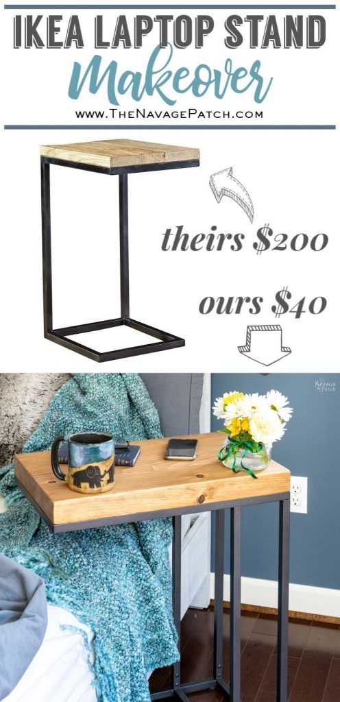 Ikea Laptop Stand Hack Diy Side Table Side Table Makeover Ikea Side Table