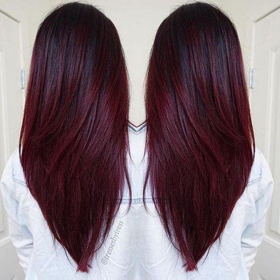 10 Beautiful Hairstyle Ideas For Long Hair 2020 Wine Hair Wine Hair Color Burgundy Hair