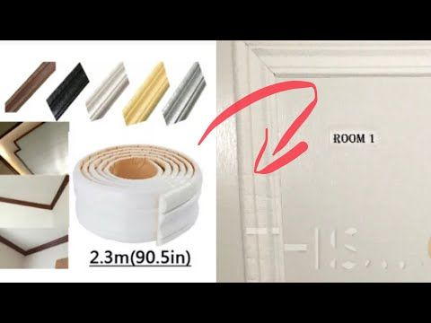 I Try This 3d Border Wall Sticker From Ebay On My Door Youtube In 2020 Wall Sticker Self Adhesive Wallpaper Borders Self Adhesive Wallpaper