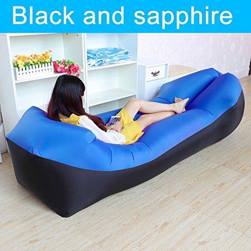 Kangsanli Fast Inflatable Camping Sleep Bed Air Sofa Beach Bed