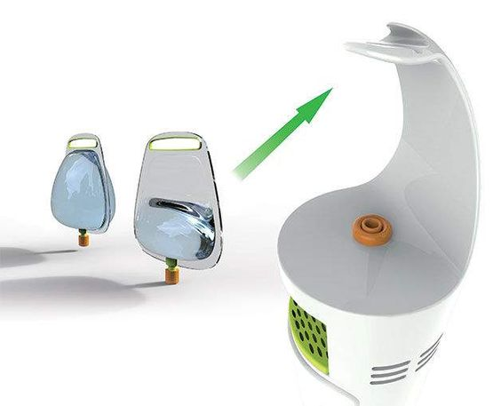 Water cooler BAG - will keep out any air born bacteria. http://www.trendhunter.com/trends/water-cooler-bag