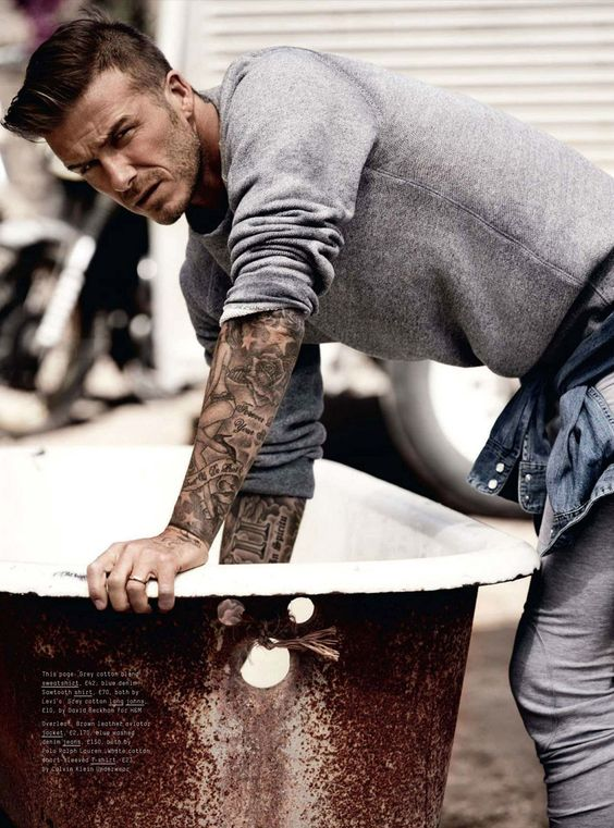 David Beckham / esquire UK sept. 12 ph: josh olins