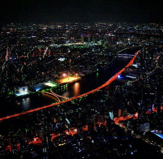 Vista aerea Tokyo