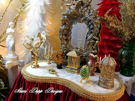 One of  a Kind Gorgeous Ornate Vanity for by ShariDeppDesigns, $299.00