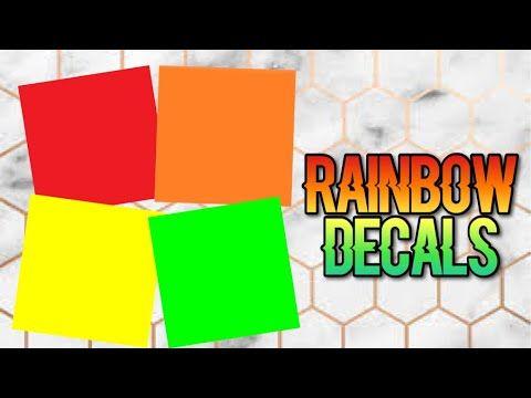 Roblox Bloxburg Rainbow Decal Id S Youtube Rainbow Decal
