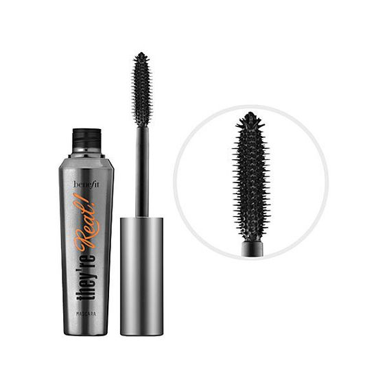 Benefit Cosmetics They're Real! Lengthening & Volumizing Mascara (£16) ❤ liked on Polyvore featuring beauty products, makeup, eye makeup, mascara, benefit, beauty, cosmetics, curling mascara, lengthening mascara and benefit mascara