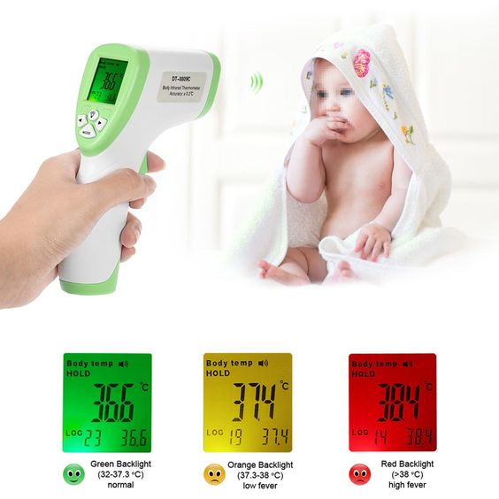 Digital Thermometer Ir Infrared Thermometer Non Contact Forehead Body Surface Temperature Instruments Termostato Data Hold Func Infrared Thermometer Forehead Thermometer Baby Thermometer