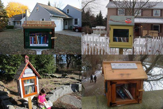 Mini-bibliotecas gratuitas = Little free libraries