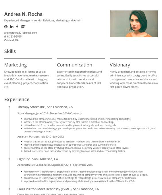 Nikki Vivianu0027s CakeResume #ResumeExample #ResumeTemplate #Resume - detailed resume example