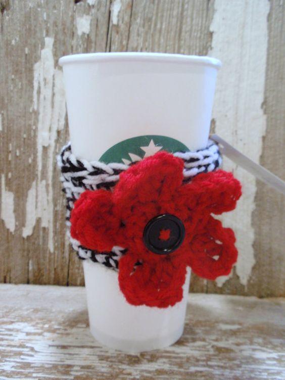 Zebra and Red Coffee Tea Cozy