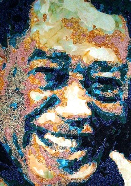 "Duke ""The Duke"" Ellington was made using thousands of fused fabrics."