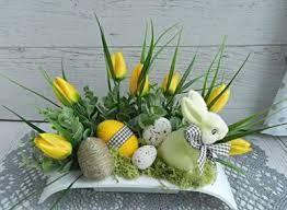 Vysledek Obrazku Pro Stroiki Wielkanocne Na Cmentarz Allegro Easter Arrangement Easter Flower Arrangements Easter Centerpieces