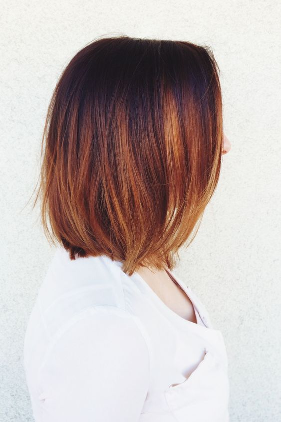 copper color melt #balayage #colormelt #ombre #olaplex: