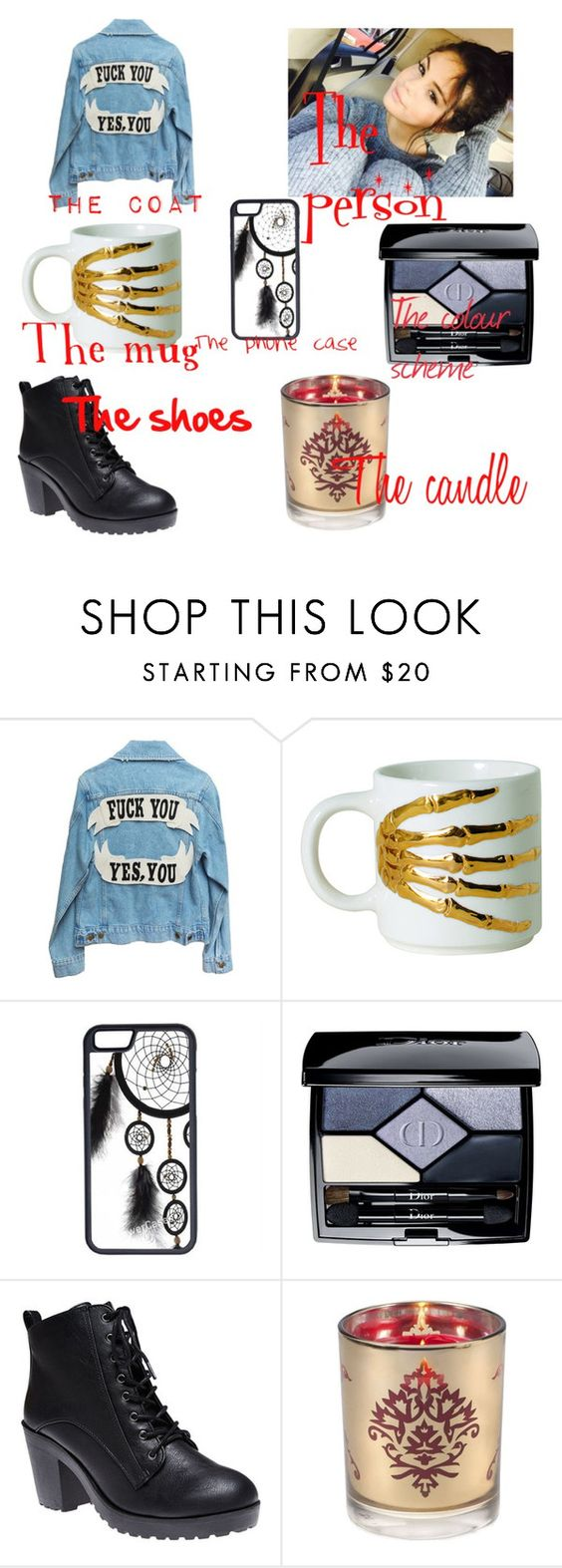 """""""challenge!!"""" by nutella-mermaid ❤ liked on Polyvore featuring Imm Living, CellPowerCases, Christian Dior, Wet Seal and Aromatique"""