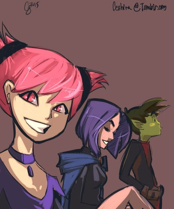 Jinx, Raven, and Beastboy