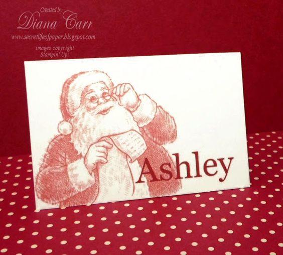 Stampin' Up! My Digital Studio - Santa's List Place Cards