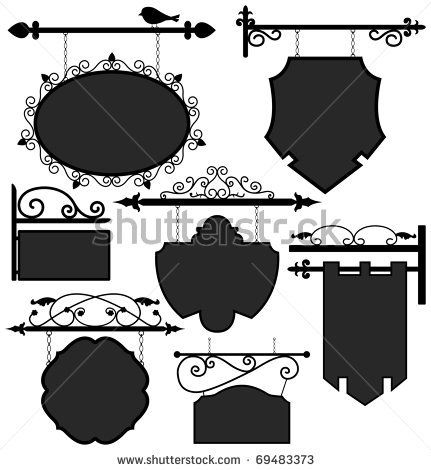 Signage Shop Sign Route Hanging Information Banner Retailer by Leremy, via Shutterstock
