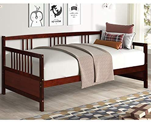 Amazon Com Giantex Wooden Daybed Frame Twin Size Full Wooden Slats Support Dual Use Sturdy Sofa Bed For Bedroom Living In 2020 Wooden Daybed Sofa Bed Bedroom Daybed