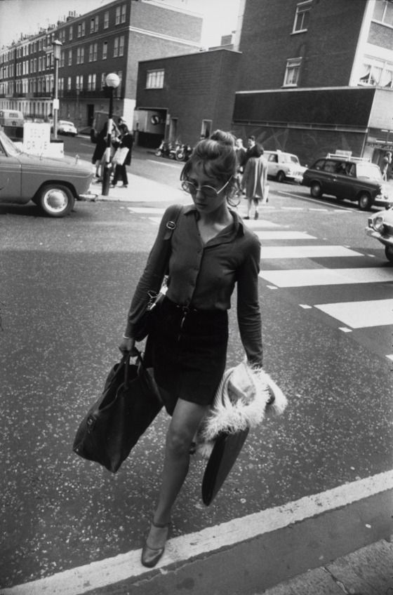 Untitled  Edition: 54/80 Portfolio: Women are Beautiful Descriptive: woman crossing street Garry Winogrand (United States, 1928-1984) United States, 1975, printed 1981 Photographs Gelatin-silver print Image: 8 3/4 x 13 in. via LACMA Collections