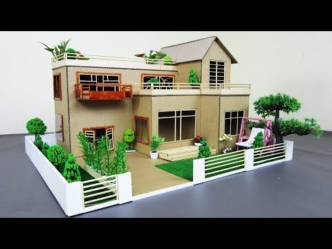How To Make A Mansion House From Cardboard Bamboo Stick
