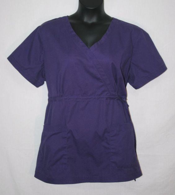 Koi Katelyn Scrub Top Style 137 Purple Size 3XL Mock Wrap #Koi