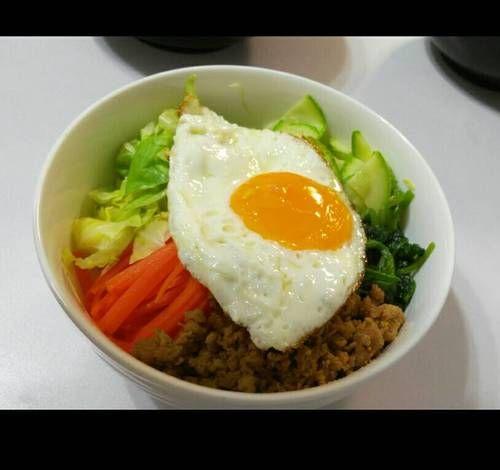 Resep Bibimbap Korean Rice Bowl Ala Vileen Oleh Vileen S Kitchen Resep Bibimbap Rebusan Tumis