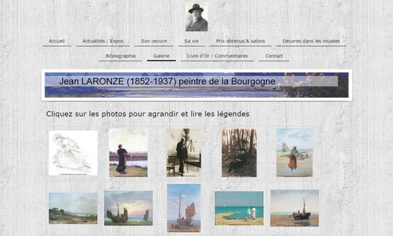 Website Jean Laronze