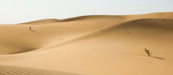 die Einsamkeit der Wüste, Xinjiang, China