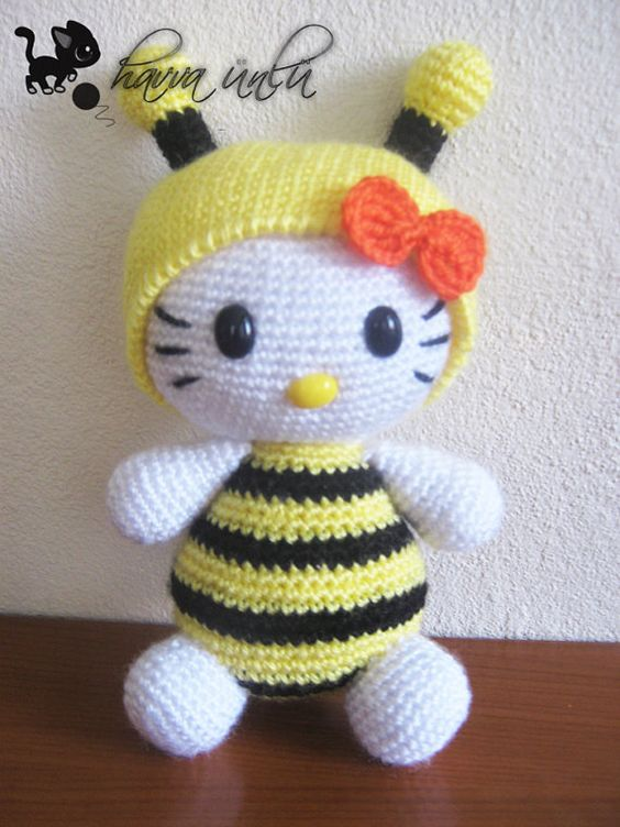 Amigurumi Basic Doll Pattern : Amigurumi Crochet Pattern Kitty in Bee Costume on Etsy, USD8 ...