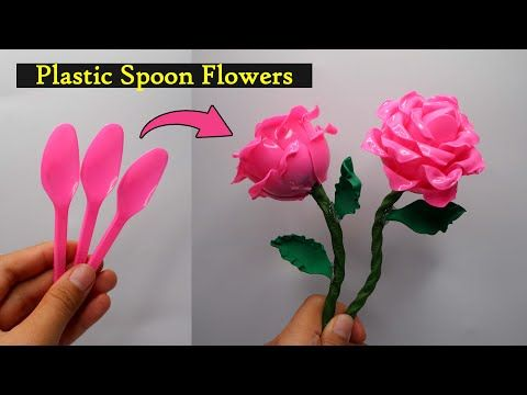 Ide Kreatif Bunga Mawar Dari Sendok Plastik Plastic Spoon