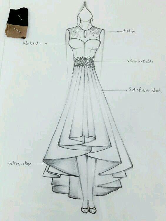 Illustration in 2020 | Dress design drawing, Fashion design ...